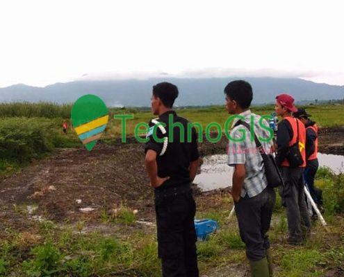 pengukuran topografi yayasan del oleh technogis indonesia