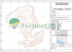 peta topografi pantai ngunggah technogis